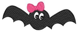 Girl Bat embroidery design