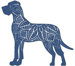 Great Dane Mandala embroidery design