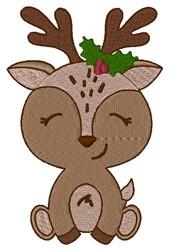 Reindeer Girl embroidery design