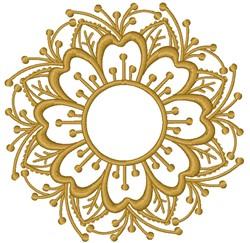 Flower Monogram embroidery design