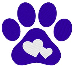 Paw Hearts embroidery design