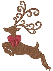 Reindeer Bow embroidery design