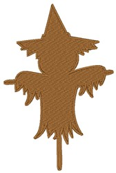 Scarecrow Silhouette embroidery design