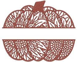 Sunflower Pumpkin Split embroidery design
