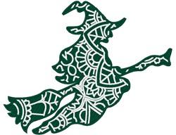 Witch Mandala embroidery design