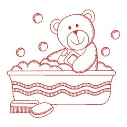 Redwork bath time cuties embroidery designs machine for Bathroom embroidery designs