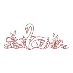 Redwork Swans embroidery design