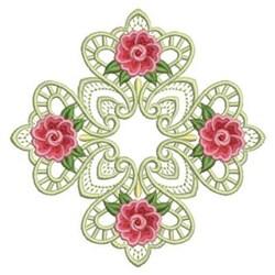 Heirloom Rose Block embroidery design
