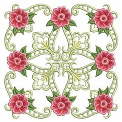 Rose Quilt embroidery design