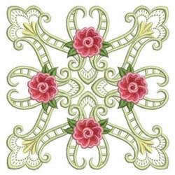 Heirloom Roses Block embroidery design