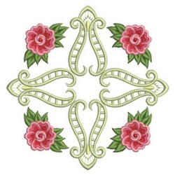 Quilt Block Of Roses embroidery design