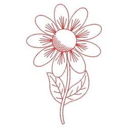 Redwork Spring Flower embroidery design