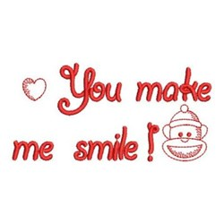 Redwork Valentines Sock Monkey embroidery design