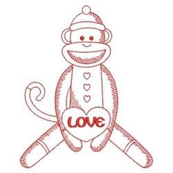 Redwork Cute Monkey embroidery design