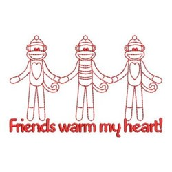 Friends Warm My Heart! embroidery design
