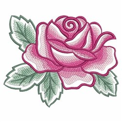 Watercolor Rose embroidery design