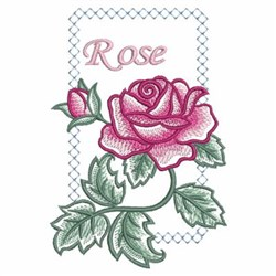 Watercolor Roses & Frame embroidery design