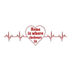 Redwork Home Heartbeat embroidery design