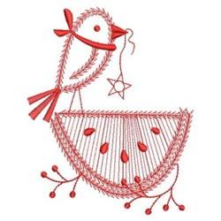 Redwork Country Bird & Watermelon embroidery design
