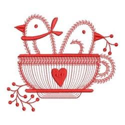 Redwork Welcome Birds embroidery design