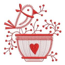 Redwork Welcome Bird embroidery design