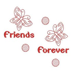 Redwork Butterfly Friends embroidery design