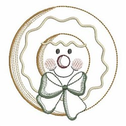Vintage Christmas Gingerbread Man embroidery design