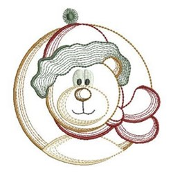 Vintage Christmas Polar Bear embroidery design