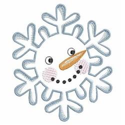 Christmas Snowman Snowflake embroidery design