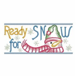 Ready For Snow embroidery design