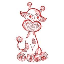 Redwork Rippled Giraffe embroidery design
