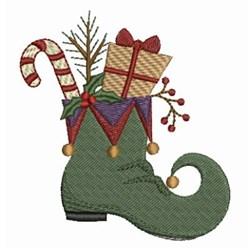 Christmas Elf Shoe embroidery design