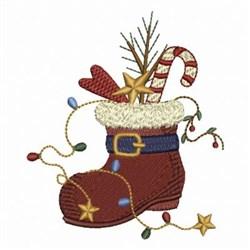 Santas Boot embroidery design