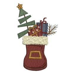 Christmas Boot embroidery design