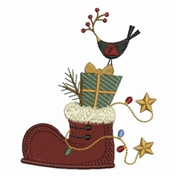 Christmas Shoe Stack embroidery design