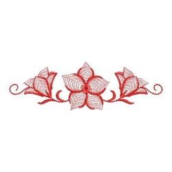 Redwork Bluebell Border embroidery design