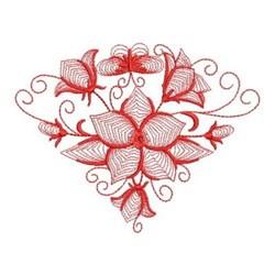 Redwork Fan Of Bluebells embroidery design