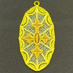 FSL Oval Cross Ornaments embroidery design