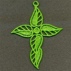 FSL Leafy Cross Ornaments embroidery design
