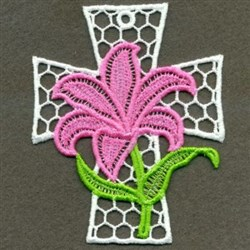 FSL Easter Cross Ornament embroidery design
