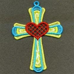 FSL Cross & Heart Ornament embroidery design