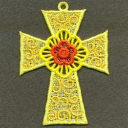 FSL Decorative Floral Cross embroidery design