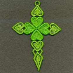 FSL Cross Of Hearts embroidery design