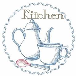 Sketched Tea Set embroidery design