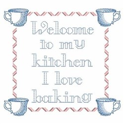 Welcome To My Kitchen embroidery design