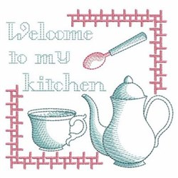 Sketched Kitchen Welcome embroidery design