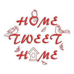 Redwork Home Tweet Home embroidery design