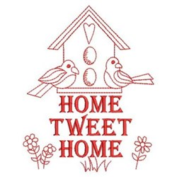 Redwork Birds At home embroidery design