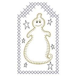 Redwork Halloween Ghost embroidery design