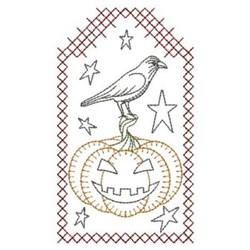 Redwork Halloween Pumpkin embroidery design